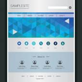 Business Website Template with Triangles Pattern — Wektor stockowy