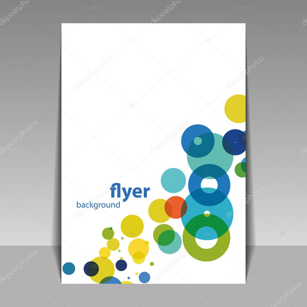 Creative Book Cover Design Eps ~ Flyer or cover design with colorful dots rings bubbles