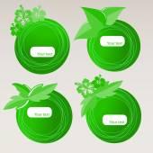 Set of Eco Speech Bubbles — Vector de stock