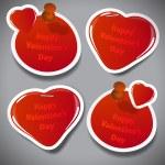Valentine's Day Stickers — Stock Vector #61651129