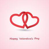 Valentines Day Card - Design Illustration for Your Greeting Card — Stock Vector