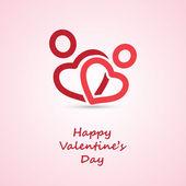 Sevgililer günü kartı - tasarlamak tebrik kartı — Stok Vektör