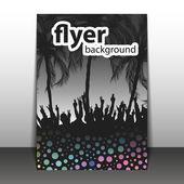 Flyer or Cover Design - Beach Party — Stock Vector