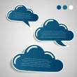 Collection of Paper Cut Cloud Shaped Speech Bubbles Template — Stock Vector #65670389
