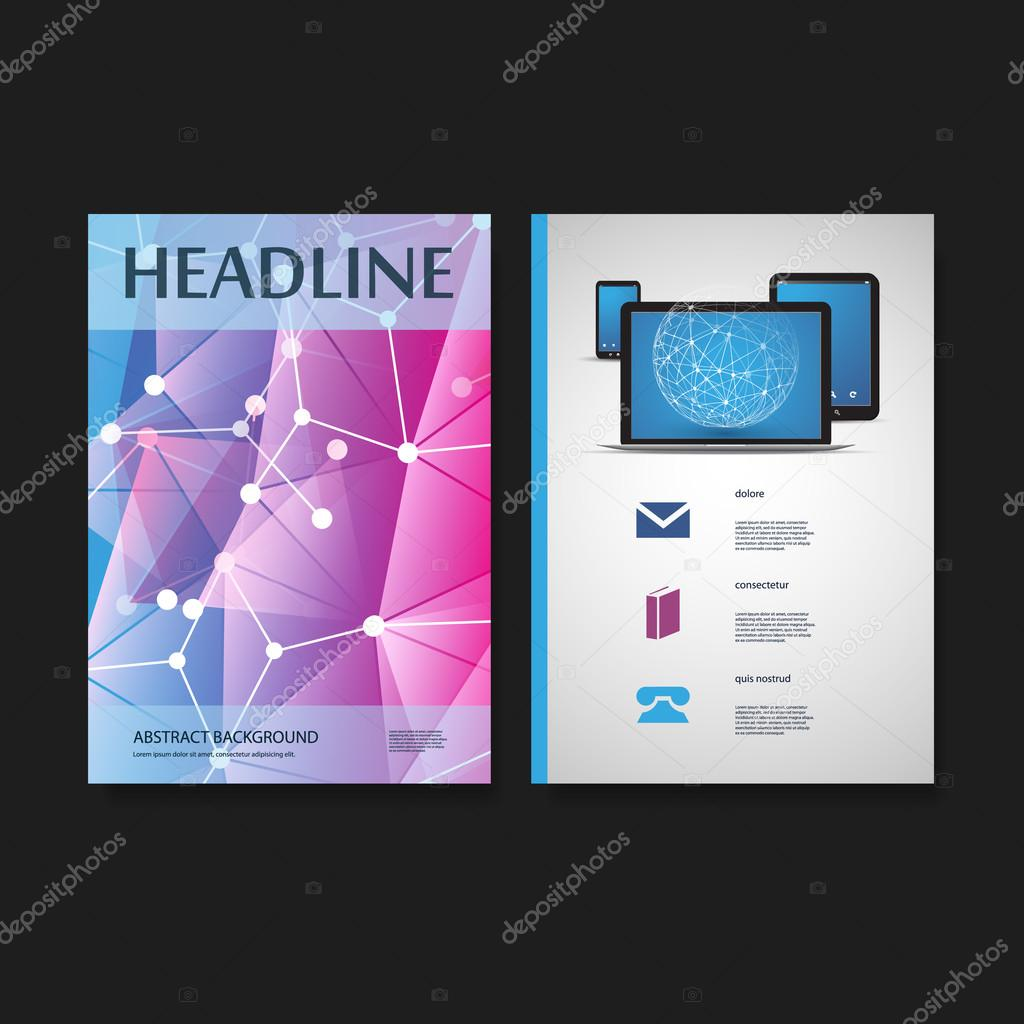 flyer or cover design template business network it abstract colorful modern styled background brochure card flyer pamphlet leaflet folder or book cover creative design networks and mobile