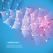Соединения - молекулярном, глобальной, цифровой или корпоративной сети дизайн, Интернет, информацию или концепции цифровой инфраструктуры - сетки абстрактный фон — Cтоковый вектор