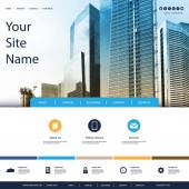 Website Design for Your Business with Skyscrapers Background — ストックベクタ