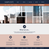 Website Design for Your Real Estate Business with World Map and Skyscrapers Background, Photo Montage Header — Stock Vector