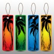Summer Holiday Banners, Price Tags With Palm Trees — Stock Vector #69542503