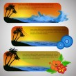 Summer Beach Banner Set — Stock Vector #69542531