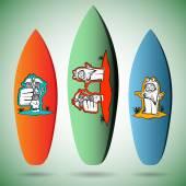 Surf board dise os conjunto vector de stock setfeye - Disenos de tablas de surf ...