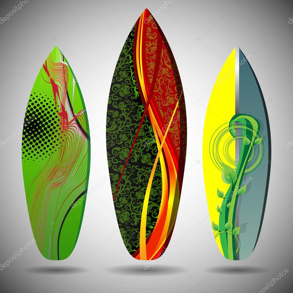 Dise o de tablas de surf de vectores vector de stock - Disenos de tablas de surf ...