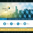 Flat Styled Website Design for Your Real Estate Business with Tall Skyscraper Background — Stock Vector #70497885