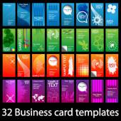 Set of Colorful Vertical Business Cards — Vetor de Stock