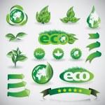 Green Eco Shiny Concept Icons, Design Template Collection — Stock Vector #73779059