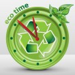 Ecological Clock Concept, Recycling, Nature, Environmentally Friendly Sustainable Development — Vector de stock  #73779133