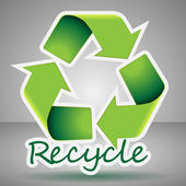 3D Recycling Symbol Icon — Stock Vector