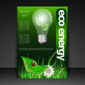 Eco Energy - Flyer Design — Stock Vector