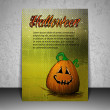 Halloween Flyer or Cover Design with Smiling Pumpkin — Stock Vector #79926216