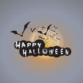Happy Halloween Card Design Template - Vector Illustration — Cтоковый вектор