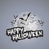 Happy Halloween Card Design Template - Vector Illustration — Stock Vector