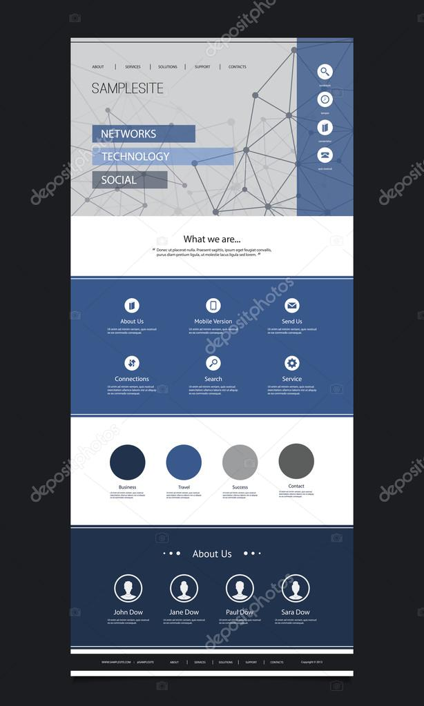 One Page Website Template with Cloud Computing and Networking ...