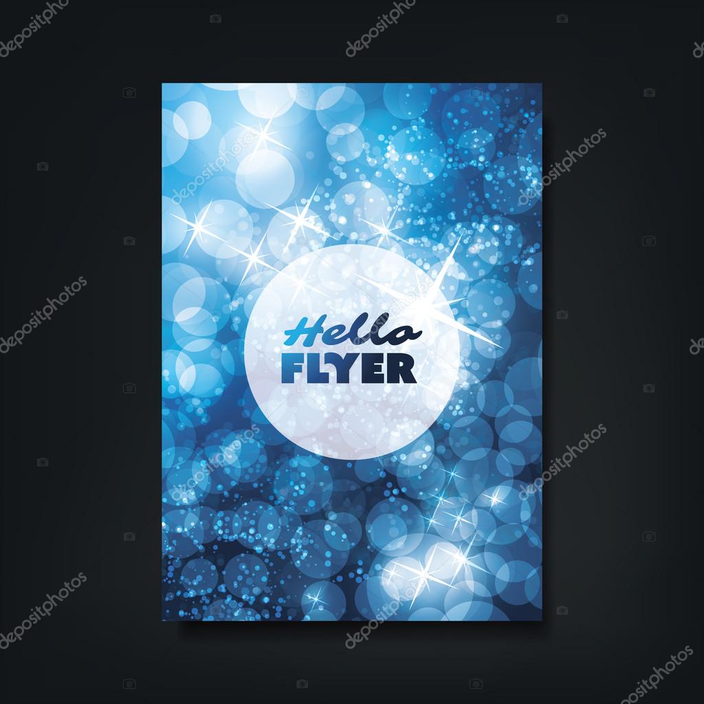 hello flyer christmas card or cover design template bubbles colorful modern style flyer folder brochure leaflet pamphlet booklet document or book cover creative design layout template abstract ice cold