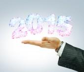 2015 i businessman's hand — Stockfoto