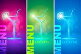 Cocktail party design menu background — Vector de stock