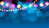 Holiday lights (Christmas card) — Stockvektor