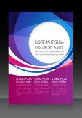Business flyer, brochure vector template — Stock Vector