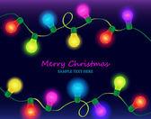 Christmas light on dark background — Stock Vector