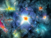 Illustration of a nerve cell — Stock Photo
