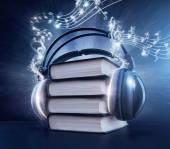 Audio-boekconcept — Stockfoto