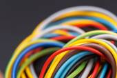 Colorful power cables — Stock Photo