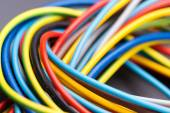 Colorful electrical cables — Stock Photo