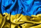 Ukraine waving flag — Stok fotoğraf