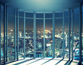 Night view from high rise window — Stock Photo
