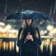 Woman under rain — Stock Photo #57138681