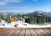 Winter season landscape — Stock Photo