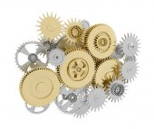 Gears with pinions — Stock Photo