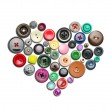 Buttons heart — Stock Photo #58784589