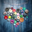 Heart colorful buttons — Stock Photo #58784855