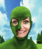 Green woman's head — Stock Photo