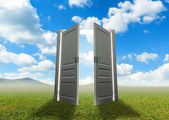 Door to the new world — Stock Photo
