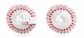 Full decks of cards — Stock Photo