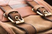 Brown backpack buckle — Stock Photo