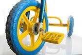 Yellow Kids bicycle — Stock Photo