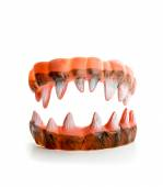 Ugly sharp teeth — Stock Photo