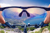 Beautiful view from the bycicle  — Stock Photo